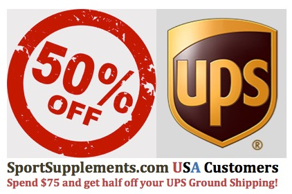 Savings on USA UPS Shipping for Discount Sport Nutrition Customers