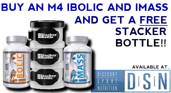 M4 Nutrition and Stacker Bottle