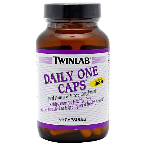 TwinLab Daily One Caps Without Iron - 60 ea