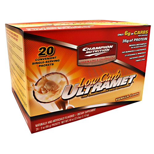 Champion Nutrition Low Carb Ultramet - Vanilla Cream - 20 ea