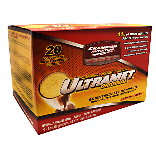 Champion Nutrition Ultramet Original - Banana Cream - 20 ea