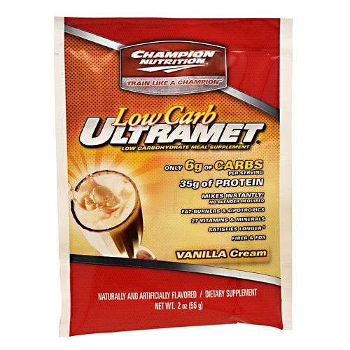 Champion Nutrition Low Carb Ultramet - Vanilla Cream - 60 ea