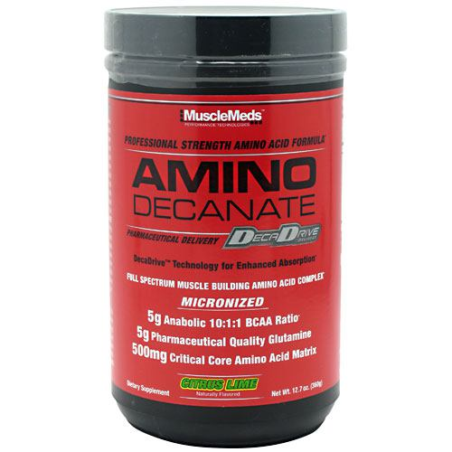 Muscle Meds Amino Decanate - Citrus Lime - 12.7 oz