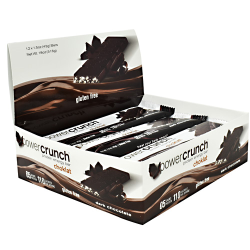 Power Crunch Choklat Crunch Protein Crisps - Dark Chocolate - 12 ea