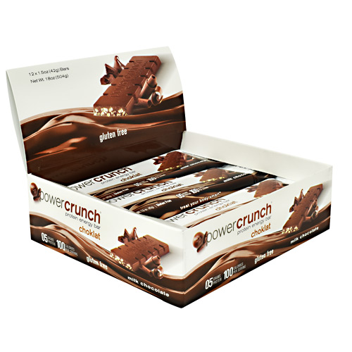 BNRG Choklat Crunch Protein Crisps - Milk Chocolate - 12 ea