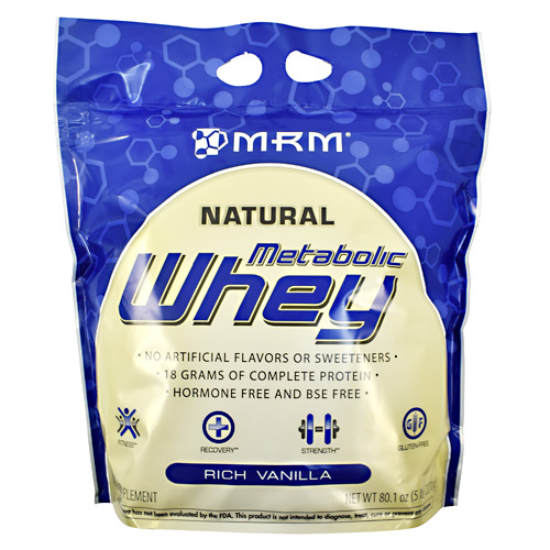 MRM Natural Metabolic Whey - Rich Vanilla - 5 lb