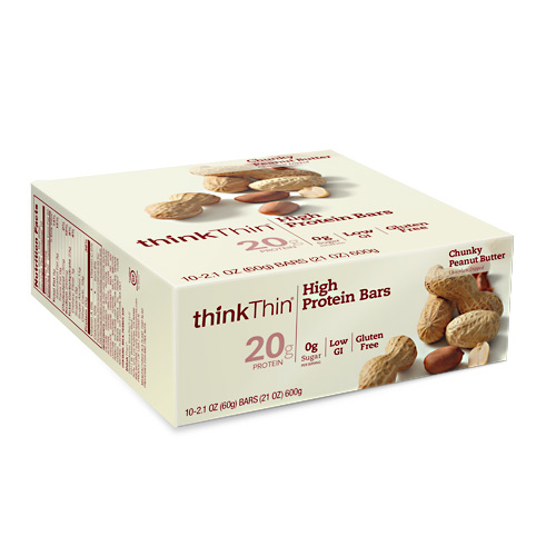 Think Products Think Thin Bar - Chunky Peanut Butter - 10 ea