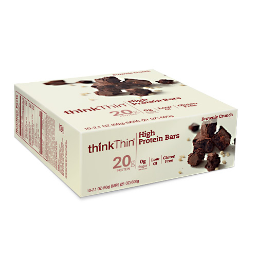 Think Products Think Thin Bar - Brownie Crunch - 10 ea
