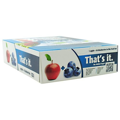 Thats it Nutrition Thats it Bar - Apple + Blueberry - 12 ea