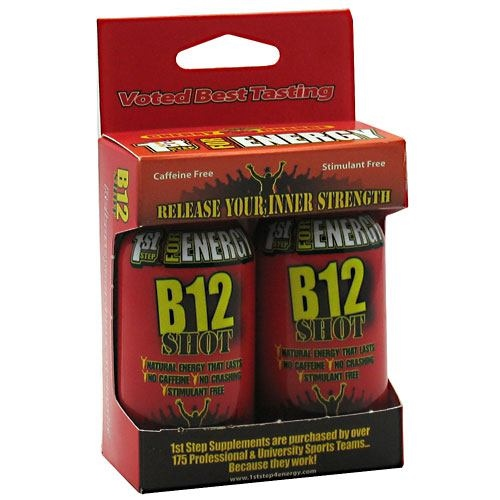 1st Step for Energy B12 Shot - Cherry Charge - 2 ea