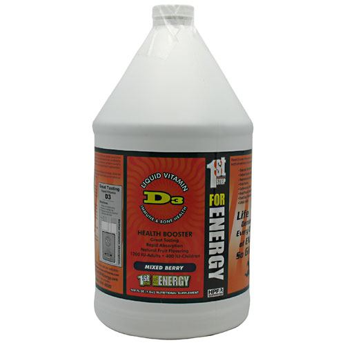 1st Step for Energy Liquid Vitamin D3 - Mixed Berry - 1 gallon
