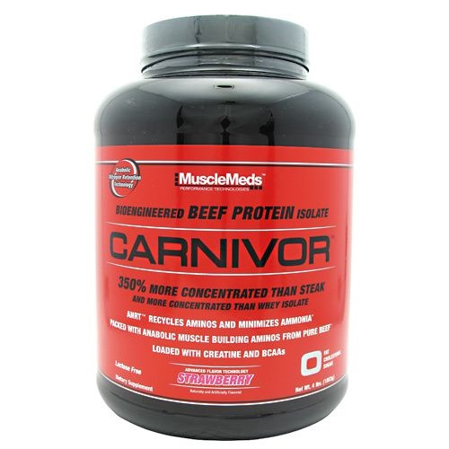 Muscle Meds Carnivor - Strawberry - 4 lb