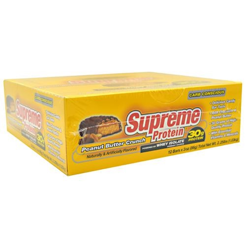 Supreme Protein Carb Conscious Quadruple Layer Protein Bar - Peanut Butter Crunch - 12 ea