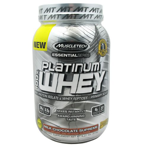 MuscleTech Essential Series 100% Platinum Whey - Milk Chocolate Supreme - 2 lb