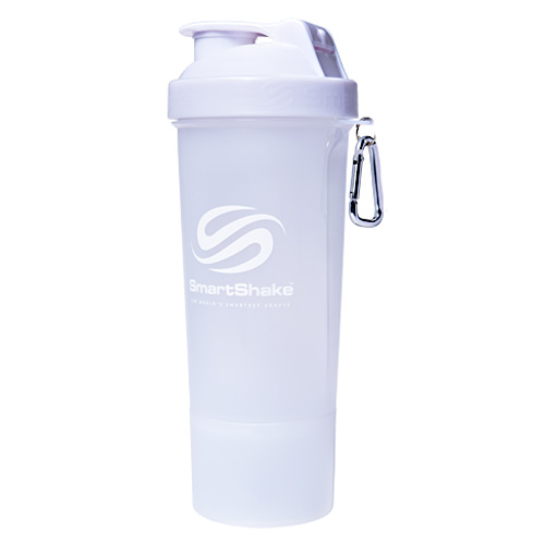 Smart Shake Slim Shaker Cup - Pure White - 17 oz