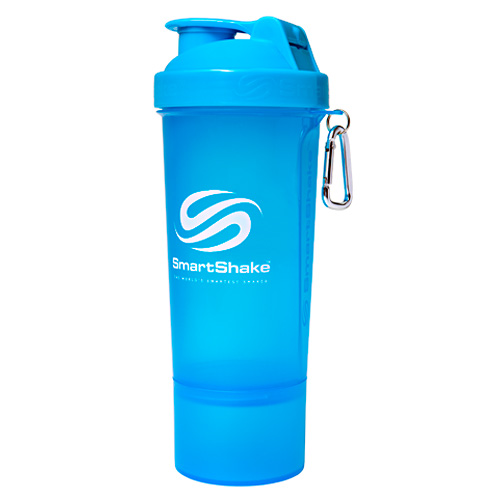 Smart Shake Slim Shaker Cup - Neon Blue - 17 oz
