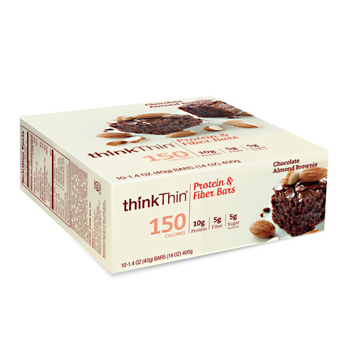 Think Products Think Thin Lean - Chocolate Almond Brownie - 10 ea
