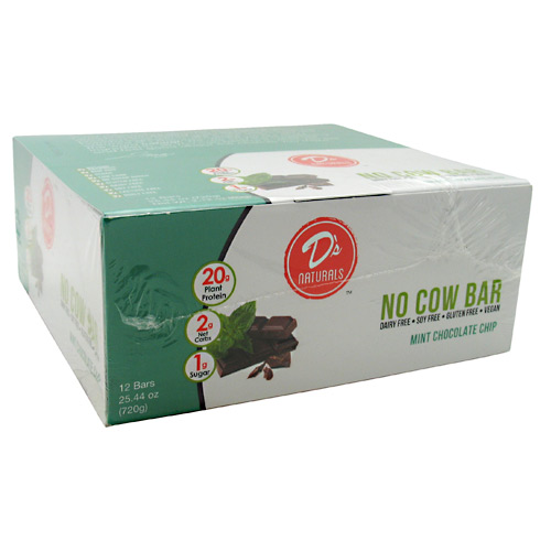 Ds Naturals No Cow Bar - Mint Chocolate Chip - 12 ea