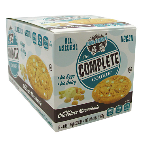 Lenny & Larrys All-Natural Complete Cookie - White Chocolate Macadamia - 12 ea