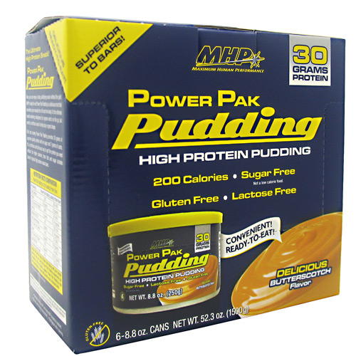 MHP Power Pak Pudding - Butterscotch - 6 ea