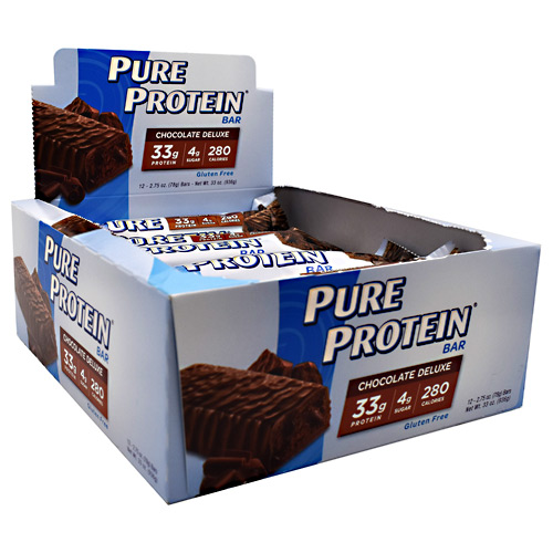 Worldwide Sport Nutritional Supplements Pure Protein Pure Protein Bar - Chocolate Deluxe - 12 ea