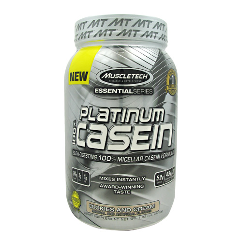 MuscleTech Essential Series 100% Platinum Casein - Cookies and Cream - 1.92 lb
