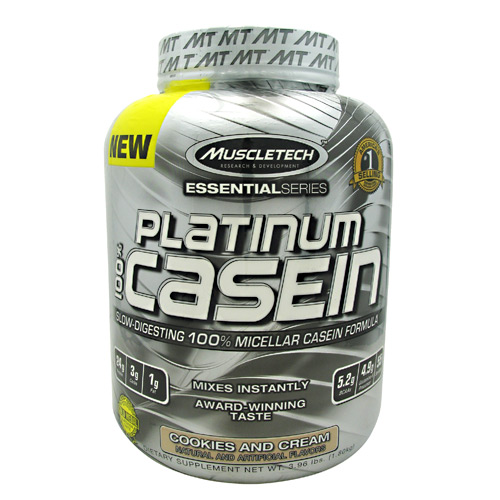 MuscleTech Essential Series 100% Platinum Casein - Cookies and Cream - 3.96 lb