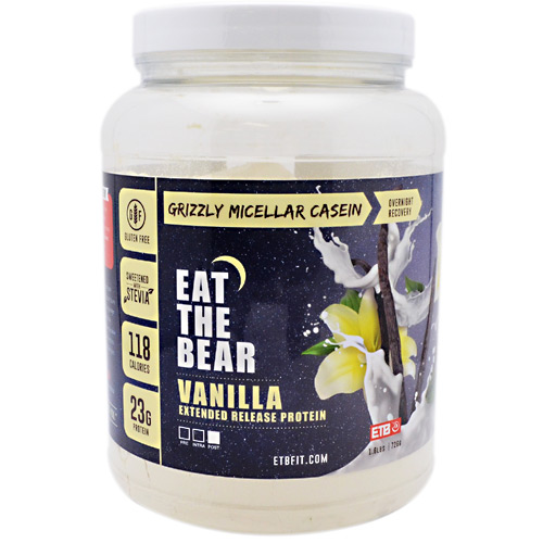 Eat The Bear Grizzly Micellar Casein - Vanilla - 1.6 lb