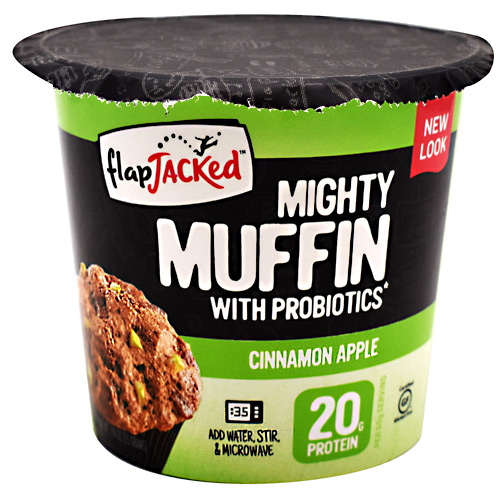 FlapJacked Mighty Muffin - Cinnamon Apple - 12 ea