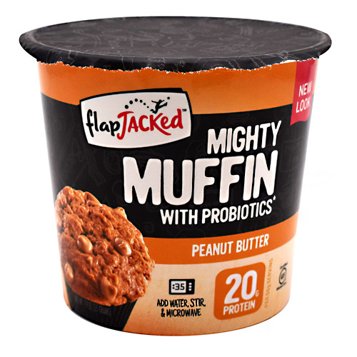 FlapJacked Mighty Muffin - Peanut Butter - 12 ea