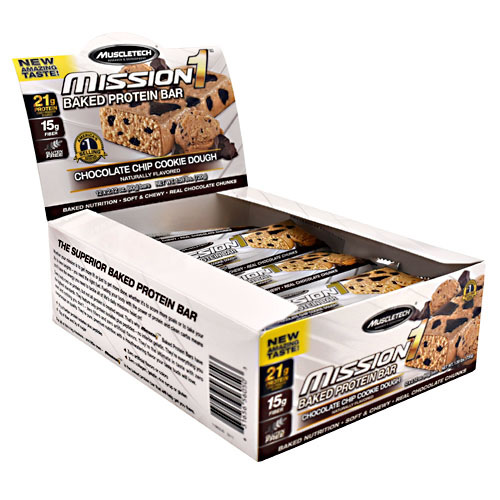 MuscleTech Mission1 - Chocolate Chip Cookie Dough - 12 ea