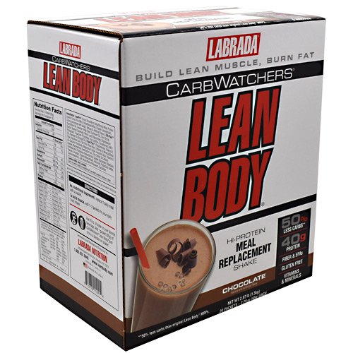 Labrada Nutrition Carb Watchers Lean Body - Chocolate - 20 ea