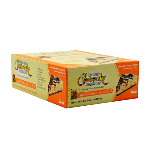 Advanced Nutrient Science INTL Gourmet Cheesecake Protein Bar - Chocolate Peanut Butter Cheesecake Flavor - 12 ea