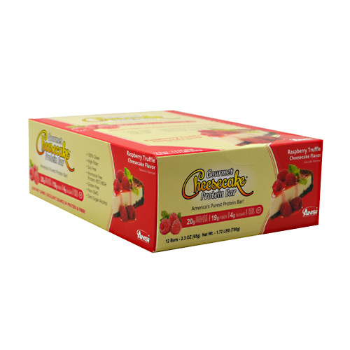 Advanced Nutrient Science INTL Gourmet Cheesecake Protein Bar - Raspberry Truffle Cheesecake Flavor - 12 ea