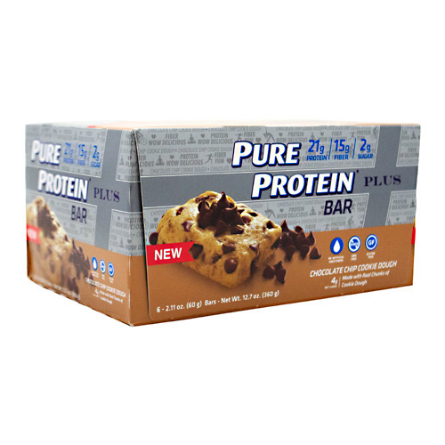 Pure Protein Pure Protein  Plus Bar - Chocolate Chip Cookie Dough - 6 ea