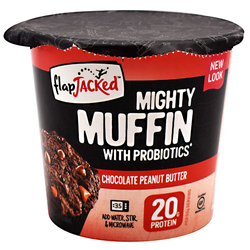 FlapJacked Mighty Muffin - Chocolate Peanut Butter - 12 ea