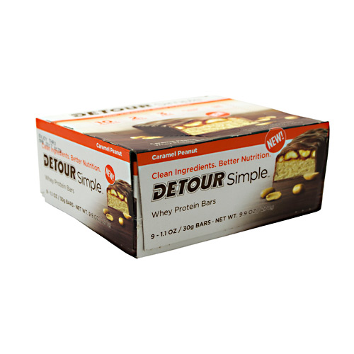 Detour SImple Bar - Caramel Peanut - 9 ea