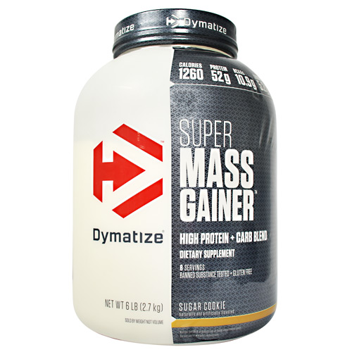 Dymatize Nutrition Super Mass Gainer - Sugar Cookie - 6 lbs