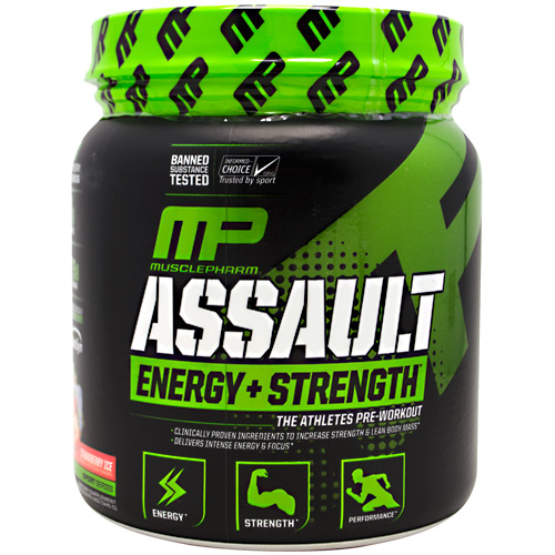 MusclePharm Sport Series Assault - Strawberry Ice - 30 ea