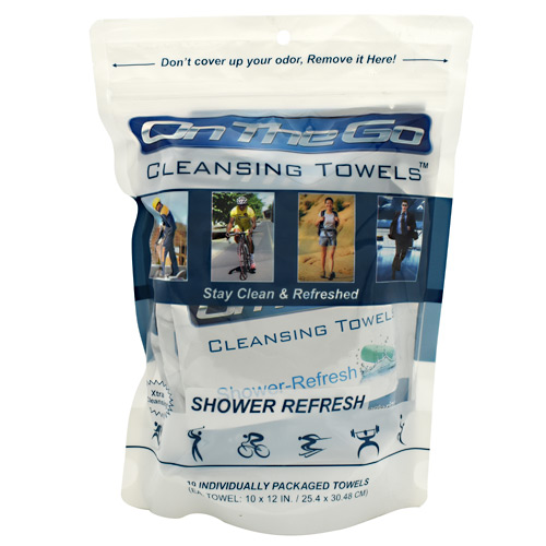 On the Go Towels Cleansing Towels - Shower Refresh - 10 ea