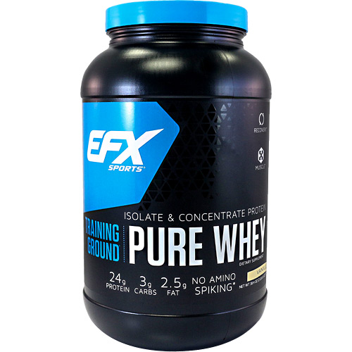 EFX Sports EFX Sports Training Ground Pure Whey - Vanilla - 38.4 oz
