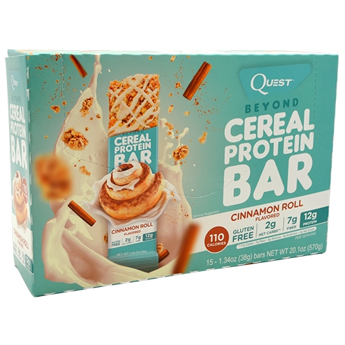 Quest Nutrition Beyond Cereal Protein Bar - Cinnamon Roll - 15 ea