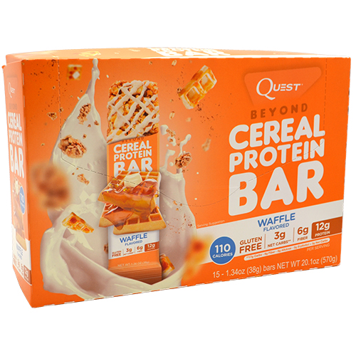Quest Nutrition Beyond Cereal Protein Bar - Waffle - 15 ea