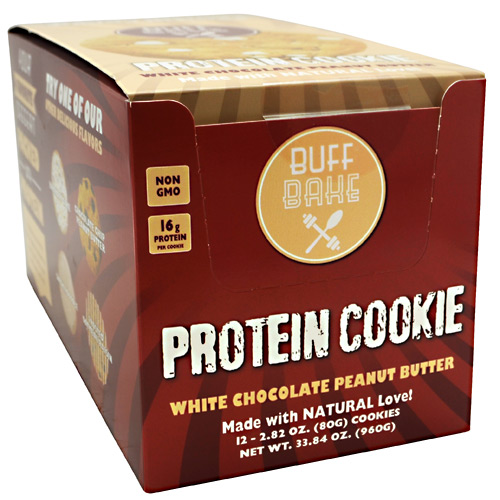 Buff Bake Protein Cookie - White Chocolate Peanut Butter - 12 ea