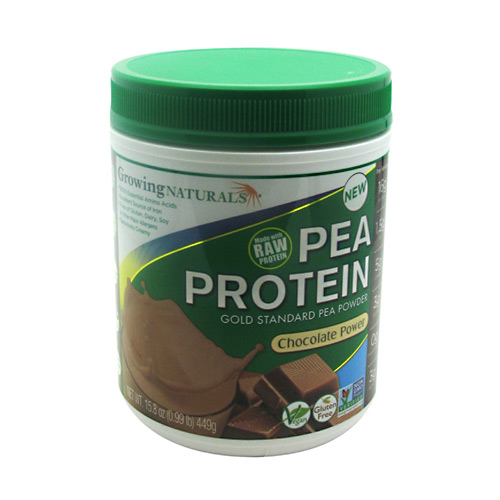 Growing Naturals Pea Protein - Chocolate - 1 lb