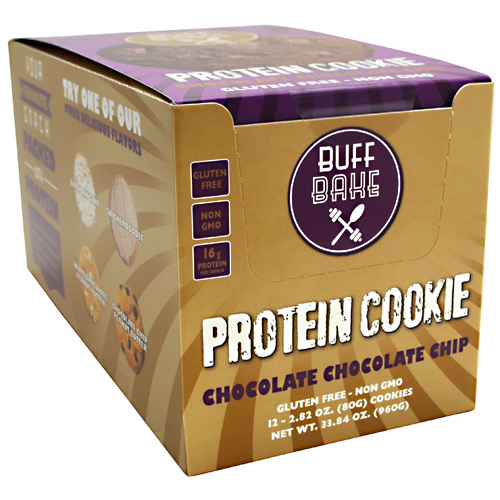 Buff Bake Protein Cookie - Chocolate Chocolate Chip - 12 ea