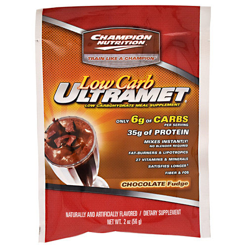 Champion Nutrition Low Carb Ultramet - Chocolate Fudge - 60 ea