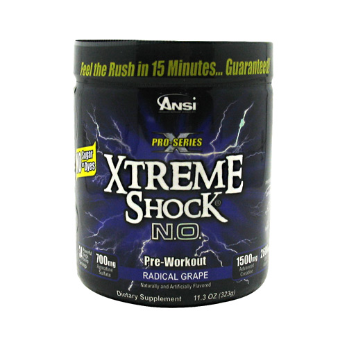Advance Nutrient Science Pro-Series Xtreme Shock N.O. - Radical Grape - 34 ea