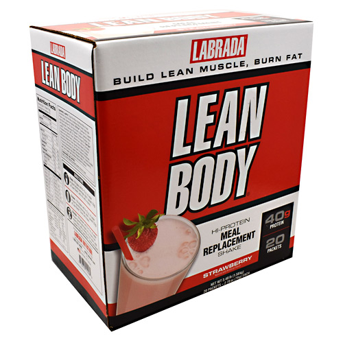 Labrada Nutrition Carb Watchers Lean Body - Strawberry - 20 ea