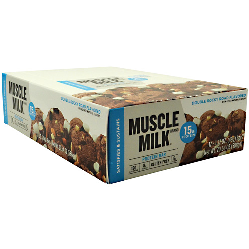 CytoSport Blue Muscle Milk Bar - Rocky Road - 12 ea